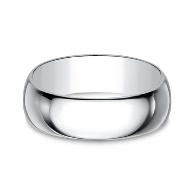 Mens 8 Mm 14K Gold Wedding Band