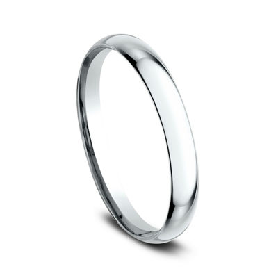 Womens 14K White Gold 2MM Light Comfort-Fit Wedding Band