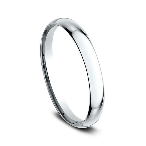 Womens 10K White Gold 2MM Comfort-Fit Wedding Band