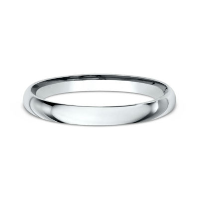 Womens 10K White Gold 2MM ComfortFit Wedding Band JCPenney