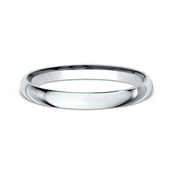 womens 10k white gold 2mm comfort fit wedding band jcpenney