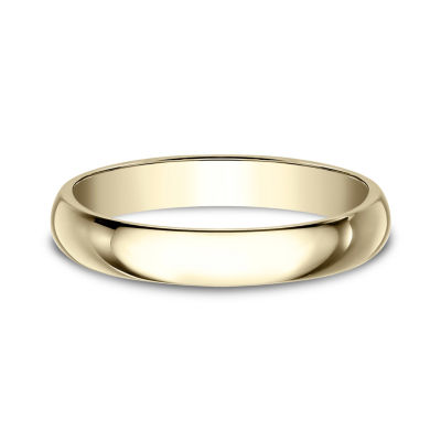 Womens 3mm 10K Yellow Gold Wedding Band
