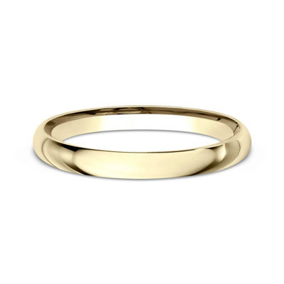 Womens 14K Yellow Gold 2MM Light Comfort-Fit Wedding Band