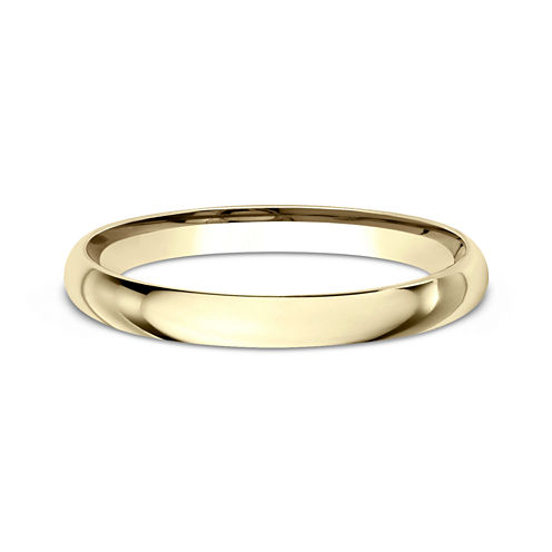 Womens 10K Yellow Gold 2MM Comfort-Fit Wedding Band