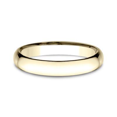 Womens 14K Yellow Gold 3MM Light Comfort-Fit Wedding Band