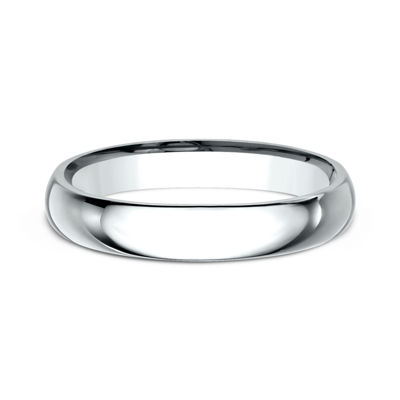 Womens 10K White Gold 3MM Comfort-Fit Wedding Band