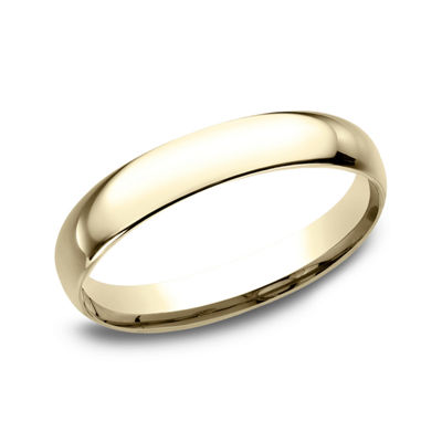 Womens 10K Yellow Gold 3MM Comfort-Fit Wedding Band
