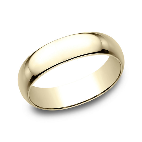 Charmant Mens 6mm 10K Yellow Gold Wedding Band