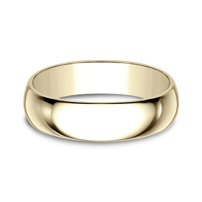 Mens 6mm 10K Yellow Gold Wedding Band