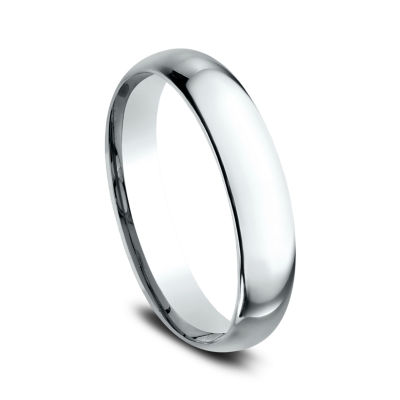 Womens 10K White Gold 4MM Comfort-Fit Wedding Band