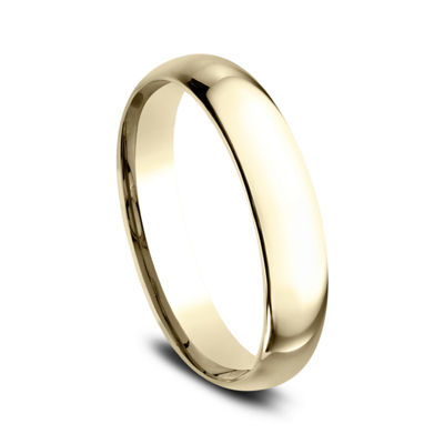 Womens 10K Yellow Gold 4MM Comfort-Fit Wedding Band