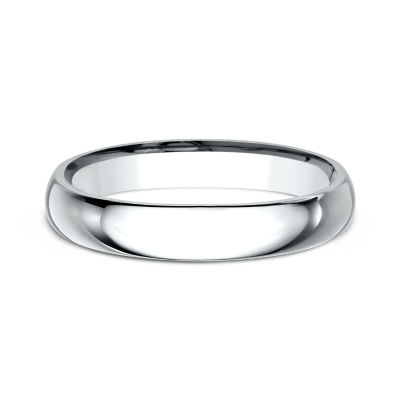 Womens 18K White Gold 3MM High Dome Comfort-Fit Wedding Band