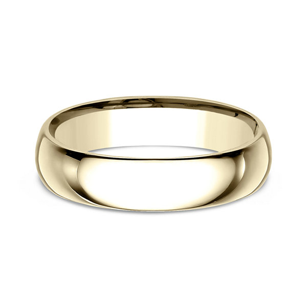 Mens 10k Yellow Gold 5mm Comfort Fit Wedding Band
