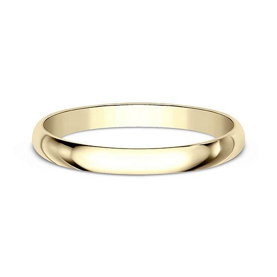 Womens 2 mm 14K Gold Wedding Band