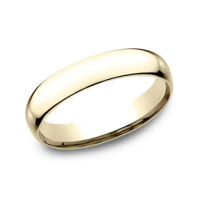 Womens 14K Yellow Gold 4MM Light Comfort-Fit Wedding Band