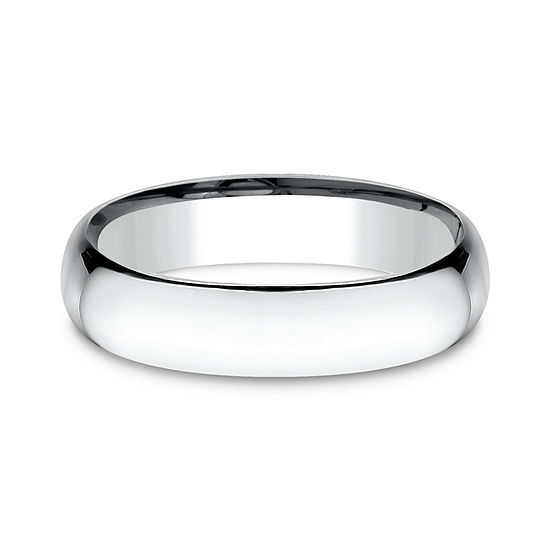 Mens 14K White Gold 5MM Light Comfort-Fit Wedding Band