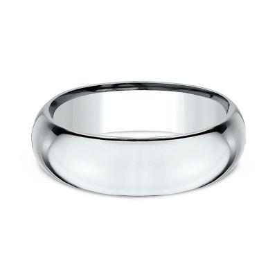 Men's 14K White Gold 7MM High Dome Comfort-Fit Wedding Band