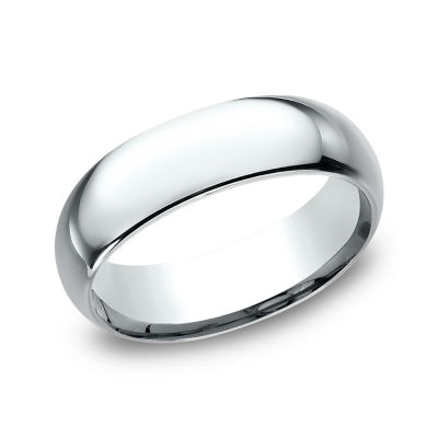 Mens 10K White Gold 7MM Comfort-Fit Wedding Band