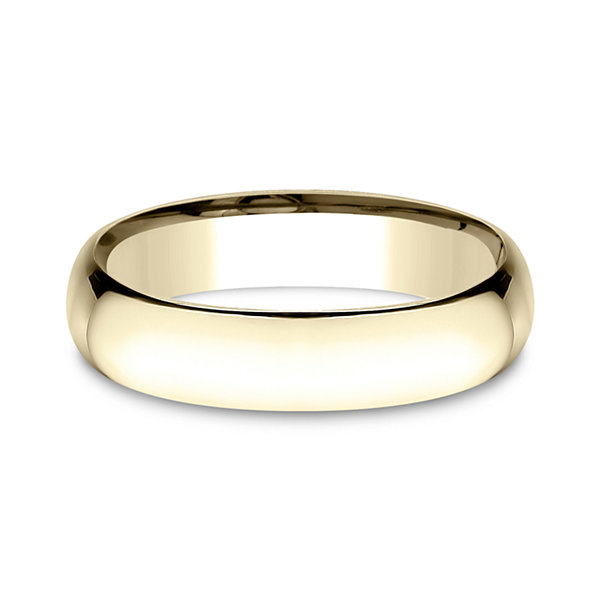 Mens 14K Yellow Gold 5MM Light Comfort-Fit Wedding Band