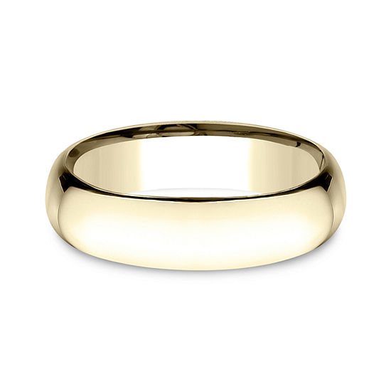 Mens 14K Yellow Gold 6MM Light Comfort-Fit Wedding Band