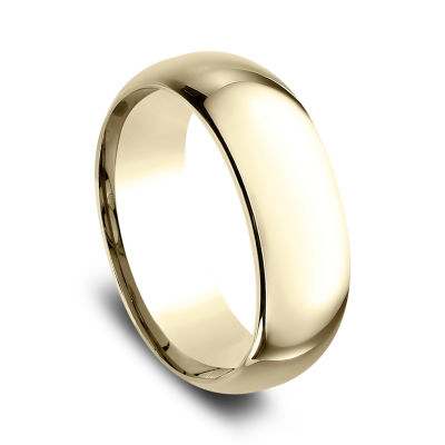 Mens 10K Yellow Gold 8MM Comfort-Fit Wedding Band