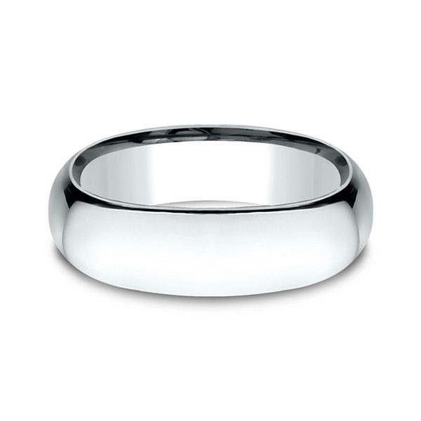 Mens 14K White Gold 7MM Light Comfort-Fit Wedding Band