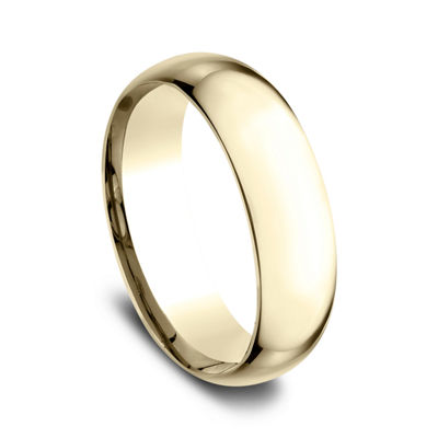 Mens 14K Yellow Gold 7MM Light Comfort-Fit Wedding Band