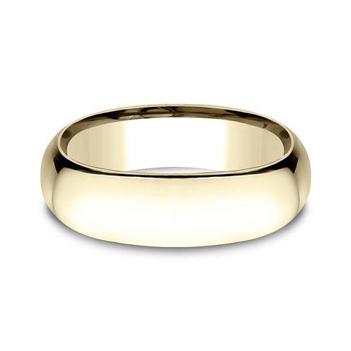 Mens 14K Yellow Gold 7MM Light Comfort-Fit Wedding Band
