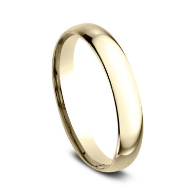 Womens 14K Yellow Gold 3MM High Dome Comfort-Fit Wedding Band