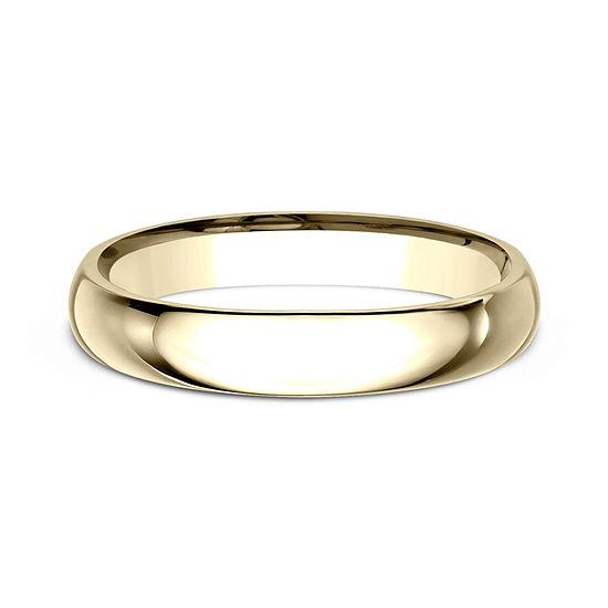 Womens 14k Yellow Gold 3mm High Dome Comfort Fit Wedding Band