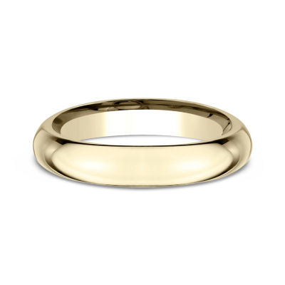 Womens 14K Yellow Gold 4MM High Dome Comfort-Fit Wedding Band
