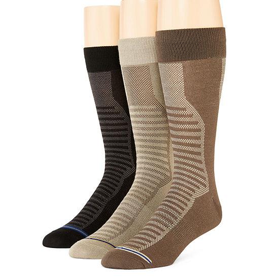 Stafford® 3-pk. Mens Casual Performance Crew Socks