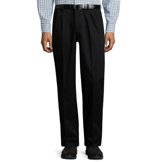 St. John's Bay® Stretch Iron Free Expandable Waist Pleat Pant
