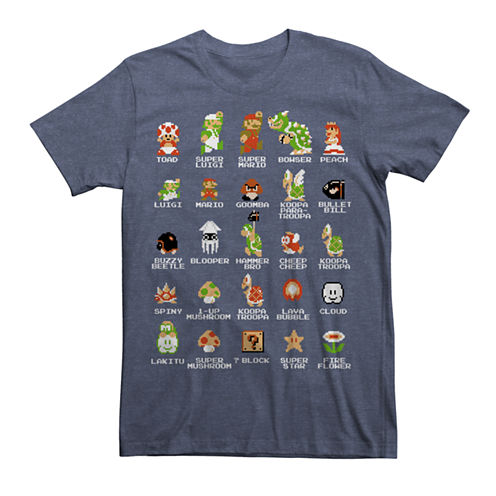 Pixel Mario Cast Graphic Tee