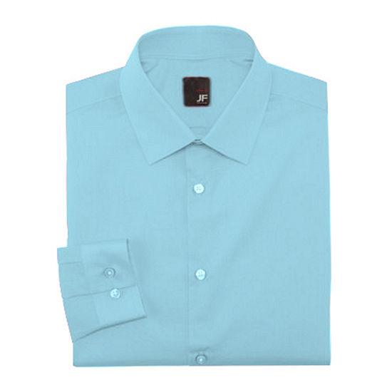 9c6fa50e02637 JF J Ferrar Slim Fit Easy Care Dress Shirt