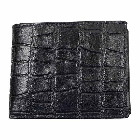 Stacy Adams® Croc Embossed Billfold Wallet