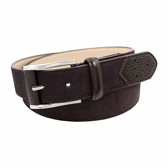 Stacy Adams® Suede Belt with Leather Tab