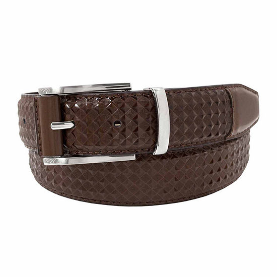 Stacy Adams® Diamond Embossed Leather Belt