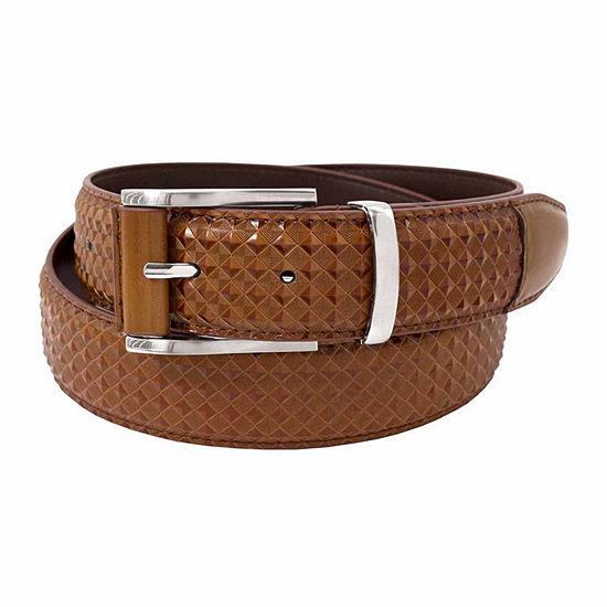 Stacy Adams® Diamond Embossed Leather Belt