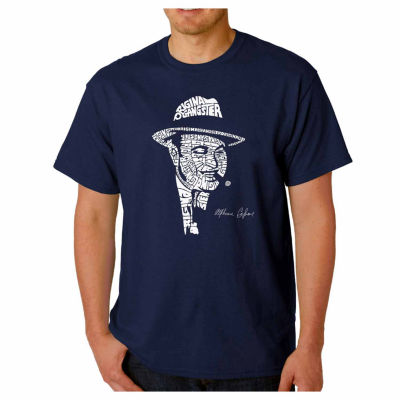 Los Angeles Pop Art Capone Short Sleeve Word Art T-Shirt-Men's Big and Tall