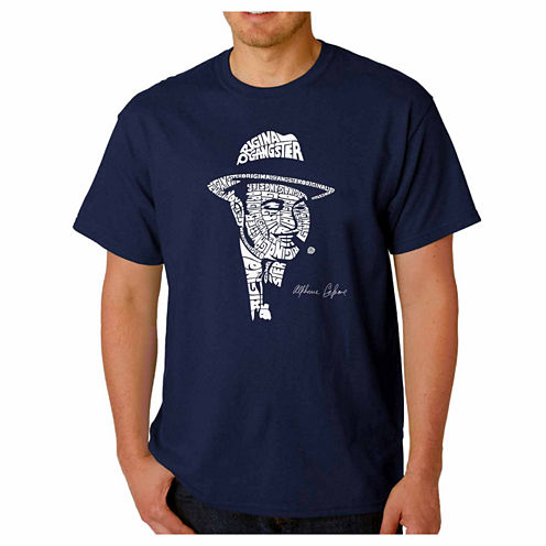 Los Angeles Pop Art Capone Short Sleeve Crew Neck T-Shirt-Big And Tall
