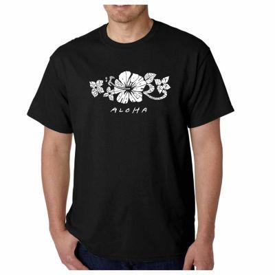 Los Angeles Pop Art Aloha Short Sleeve Word Art T-Shirt - Big and Tall