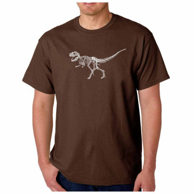 Los Angeles Pop Art Dinosaur Short Sleeve Word ArtT-Shirt-Men's Big and Tall
