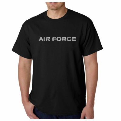 """Los Angeles Pop Art """"Lyrics to the Air Force Song""""Word Art T-Shirt- Men's Big and Tall"""""""