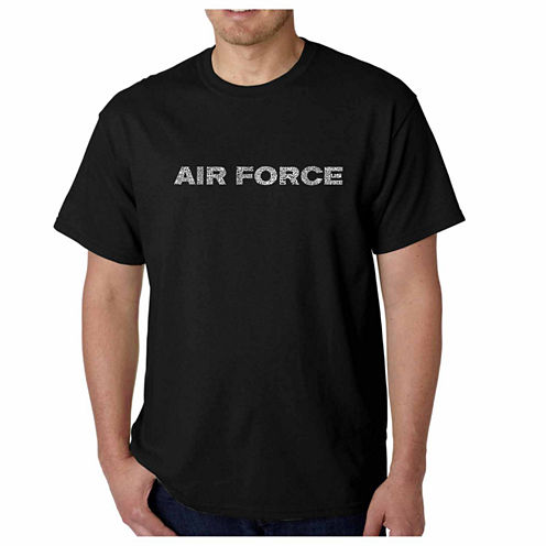 "Los Angeles Pop Art ""Lyrics to the Air Force Song"" Crew Neck T-Shirt-Big and Tall"