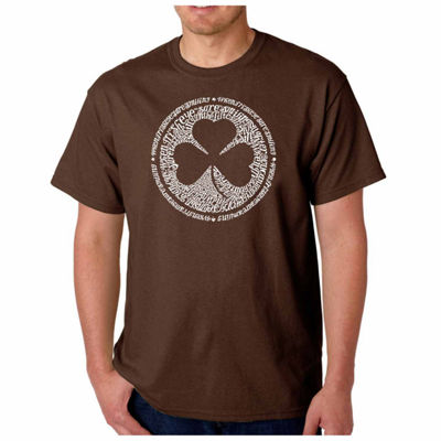 "Los Angeles Pop Art ""Lyrics to When Irish eyes areSmiling"" Word Art T-Shirt- Men's Big and Tall"""