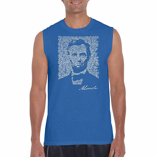 5f5b5242a6e72 Los Angeles Pop Art Mens Crew Neck Sleeveless Tank Top Big and Tall -  JCPenney