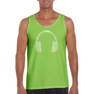 Los Angeles Pop Art Men's 63 Different Genres of Music Tank Top