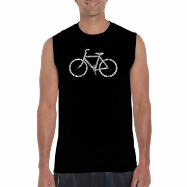 Los Angeles Pop Art Men's Save a Planet Ride a Bike Sleeveless T-Shirt - Big and Tall
