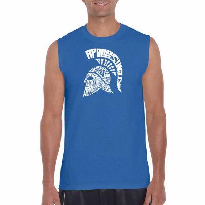 Los Angeles Spartan Sleeveless Word Art T-Shirt- Men's Big and Tall